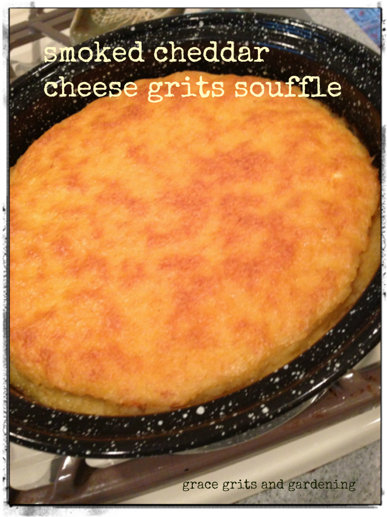 smoked cheddar grits souffle