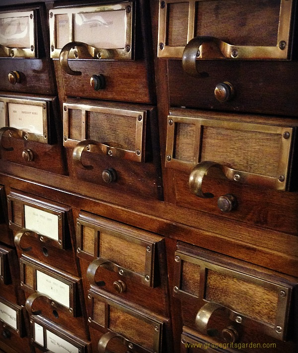 card catalog for seed packet storage?