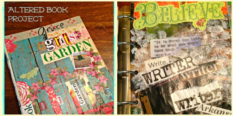 Grace Grits and Gardening - Altered Book How To