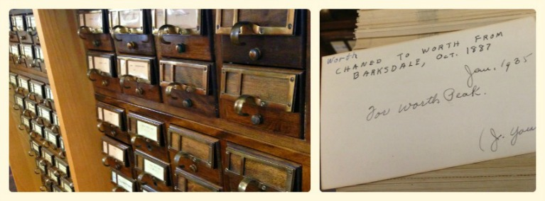 Dealey Library Card Catalog