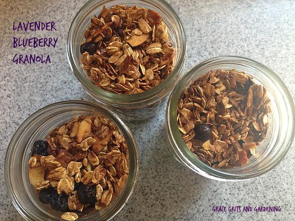 lavender blueberry granola