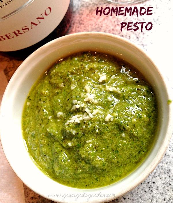 how to make homemade basil pesto