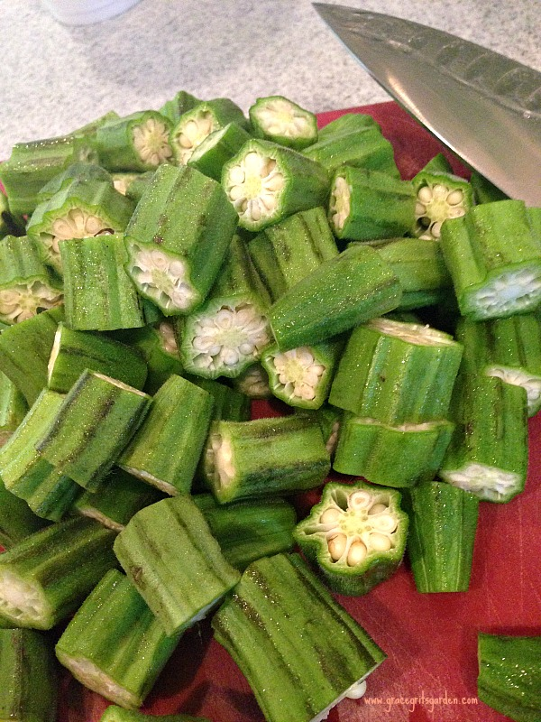 Roasted Okra with Mint - perfect summer dish!