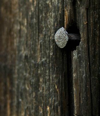 Farm Art Friday - old barn nail