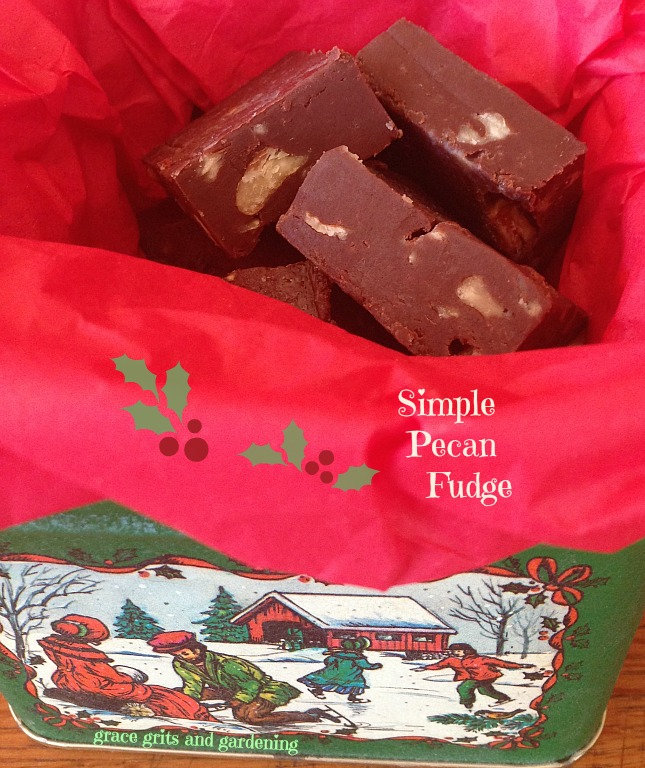 Simple Pecan Fudge in Vintage Tin