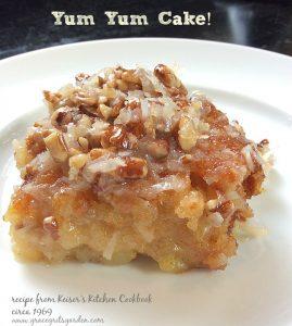 Yum-Yum-Cake- vintage recipe - delish!