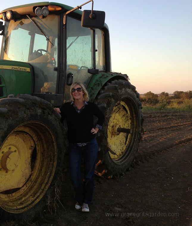 big green tractor / farm art friday
