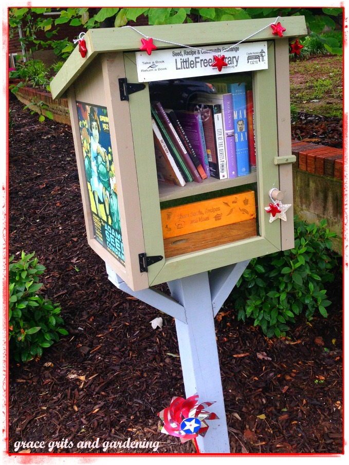 Our Little Free Library is ready for Memorial Day!