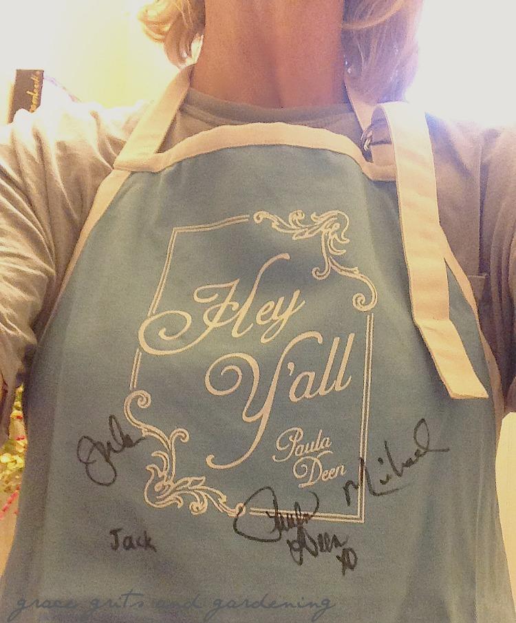 Paula Deen autographed apron