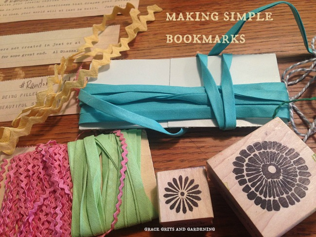 making simple bookmarks!