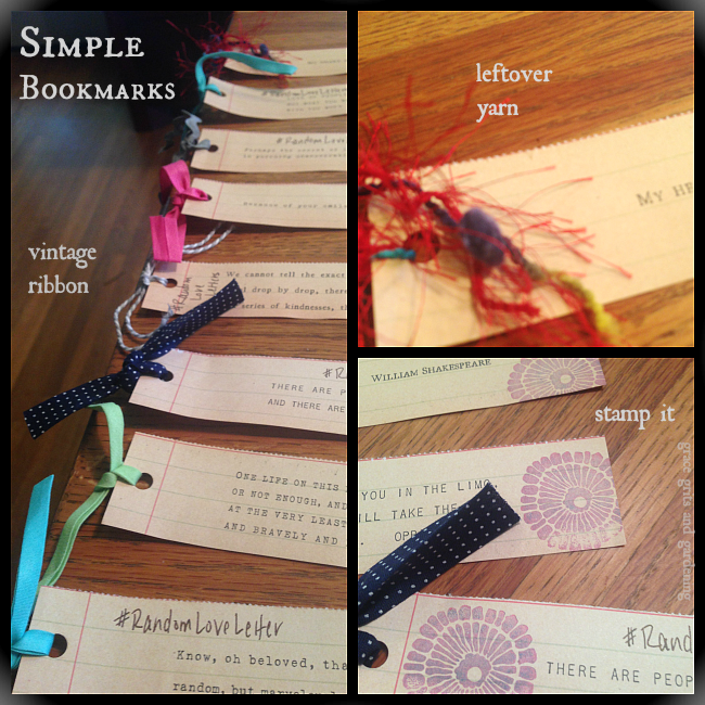 how to make simple bookmarks