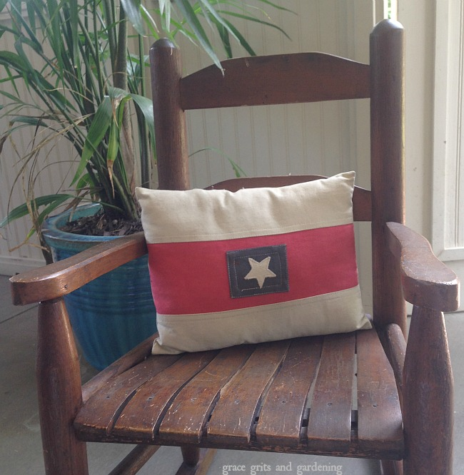 small patriotic pillow