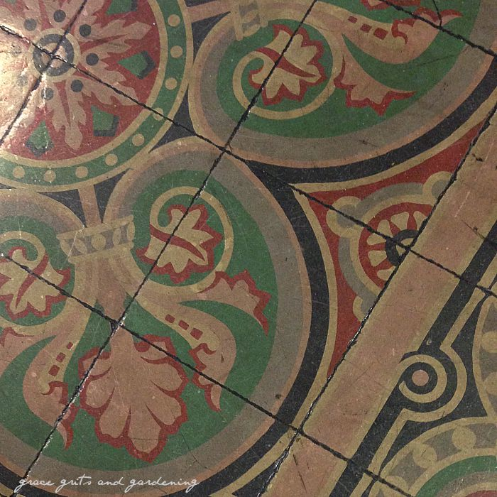 Baked tile floor. Osceola, Ar courthouse
