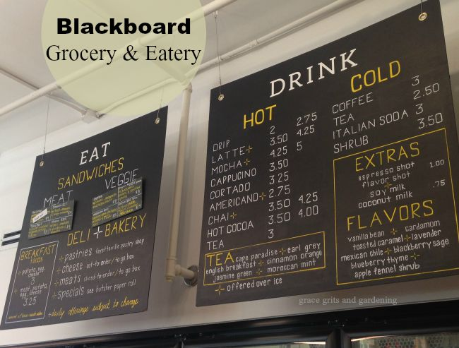 Blackboard Grocery Menu