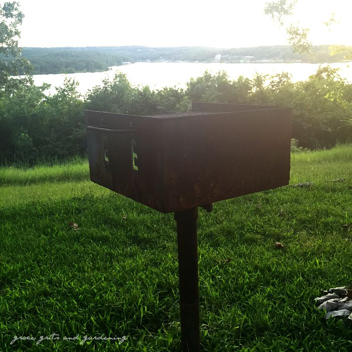 old bbq grill - chasing summer