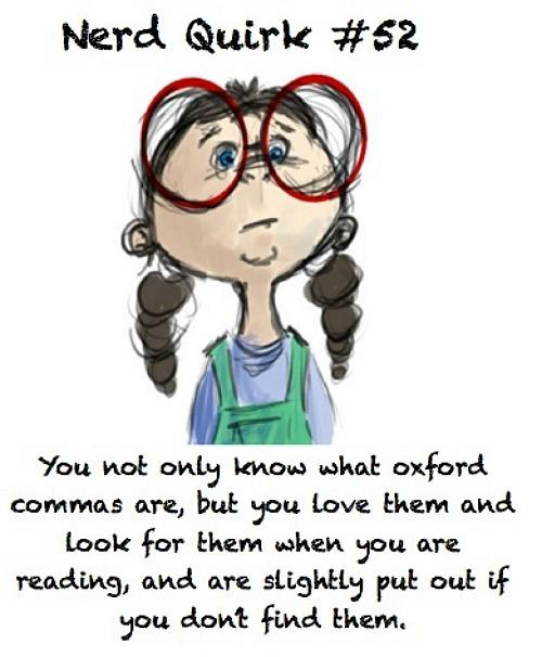 Oxford Comma Nerd Quirk