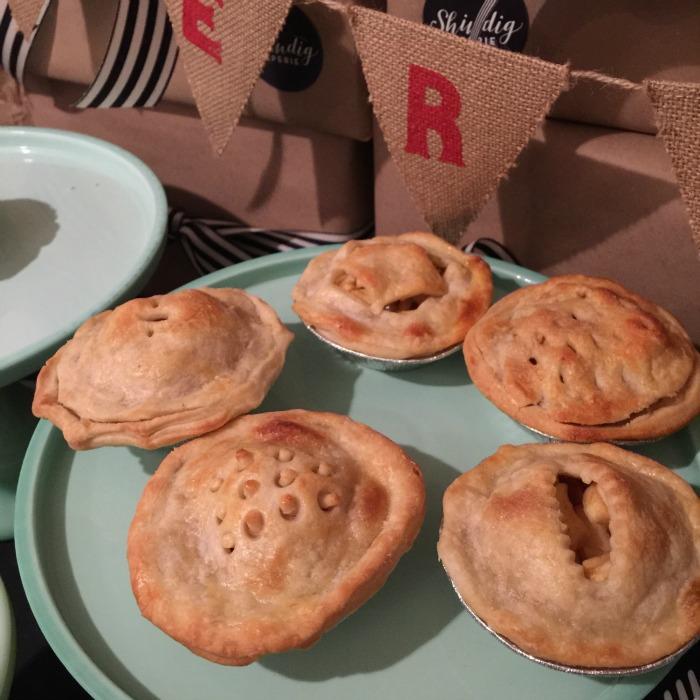 mini salted caramel apple pie