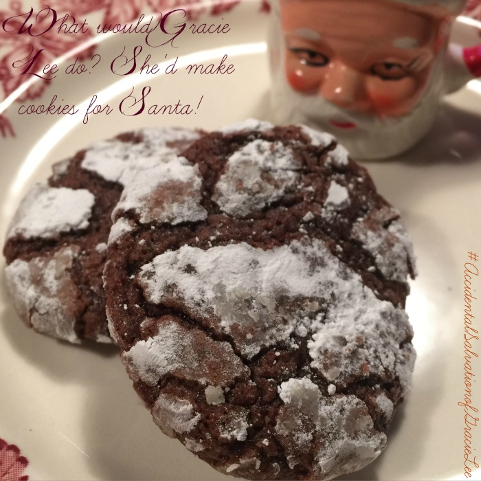 Gracie Lee's favorite cookie - chocolate crinkles