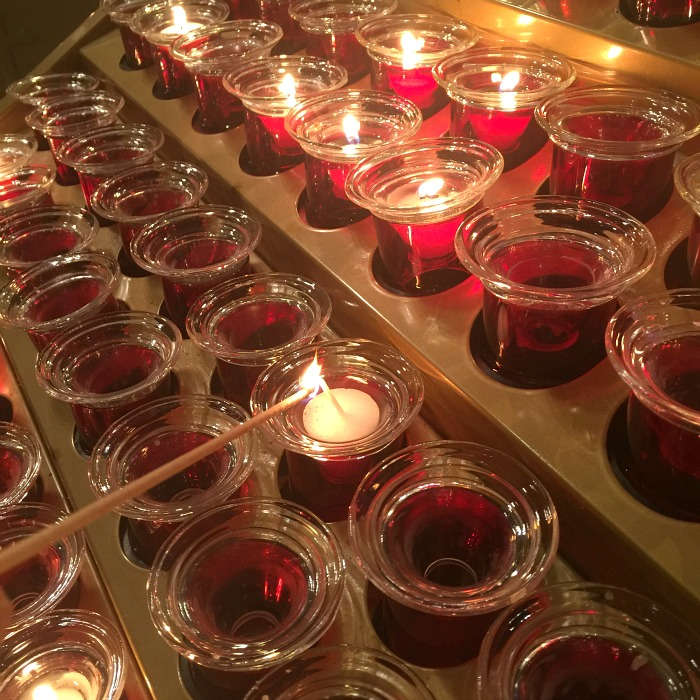 lighting a candle, St. Patrick's Cathedral