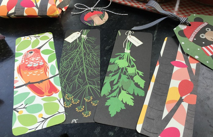 Bookmarks made from last year's calendar!