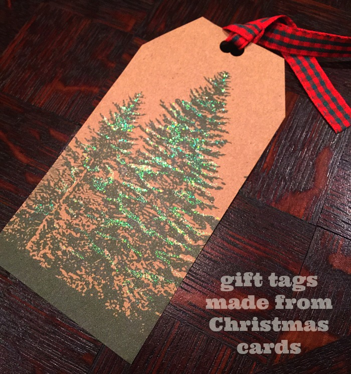 gift tag from Christmas card