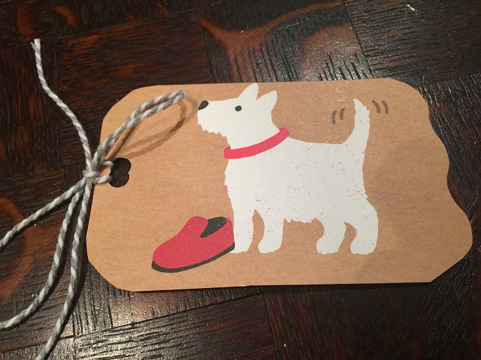 homemade gift tag
