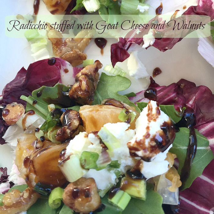 Radicchio stuffed with Goat Cheese and Walnuts