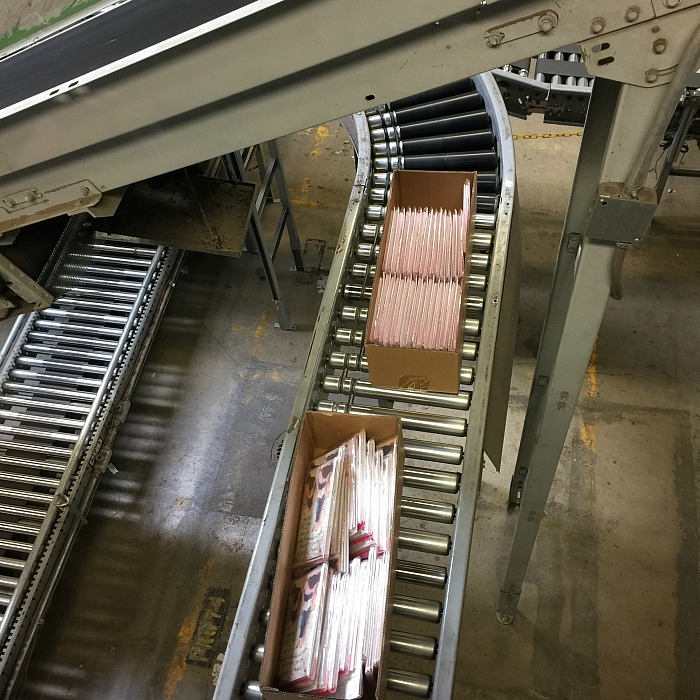 ten miles of conveyor belts in American Greetings, Osceola