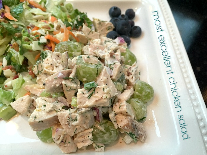 chicken salad - my favorite version!