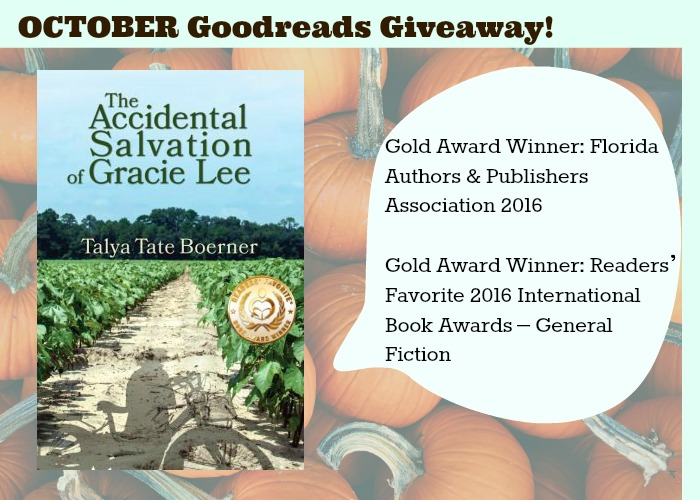 October Goodreads Giveaway!
