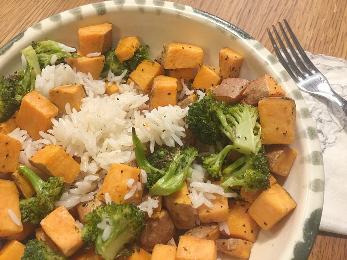 Sweet Potato Broccoli with orange